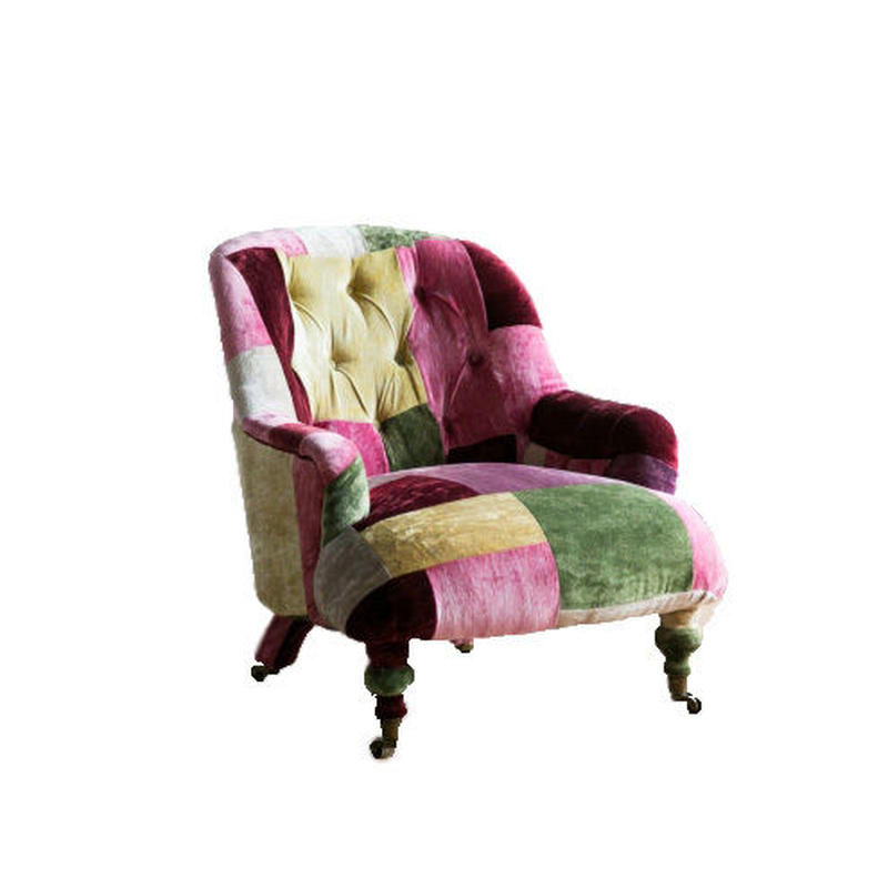 HALO ANNE CHAIR VELVET PATCHWORK BOHEM
