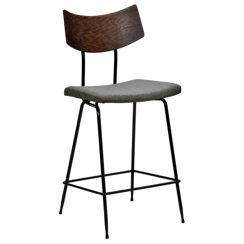 SQUARE ROOTS  SOLI COUNTER STOOL GREY FABRIC