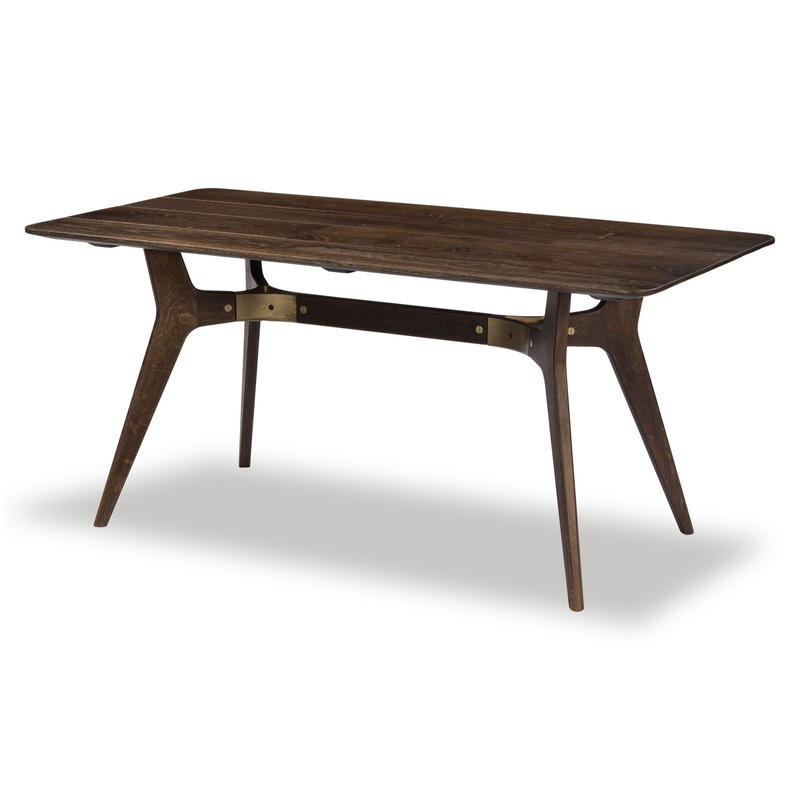 SQUARE ROOTS KIRI DINING TABLE / SEARED OAK BRONZE