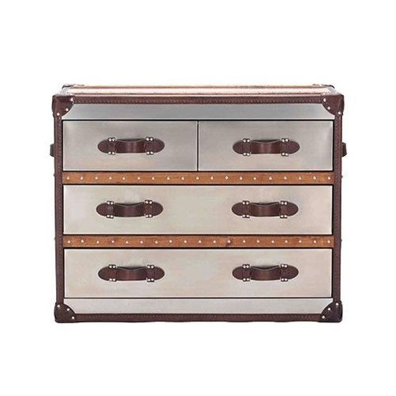 HALO STONYUHURST MEDIUM CHEST BRUSHED STEEL