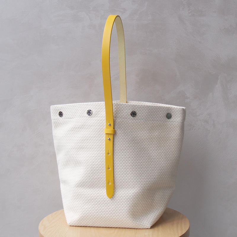 CaBas N°47 Bucket bag White/Yellow