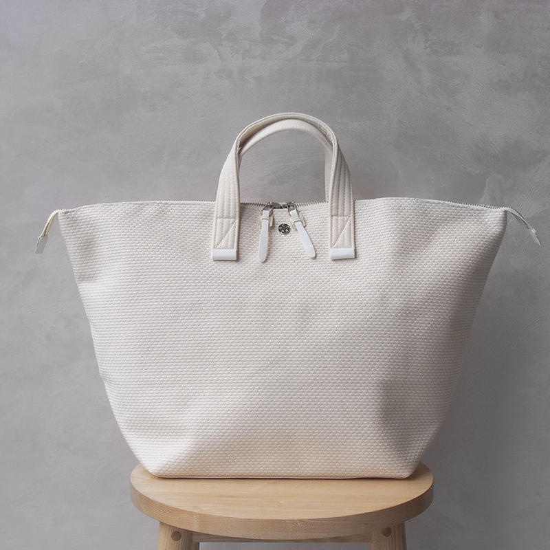 CaBas N°32-Bowler bag medium White/White