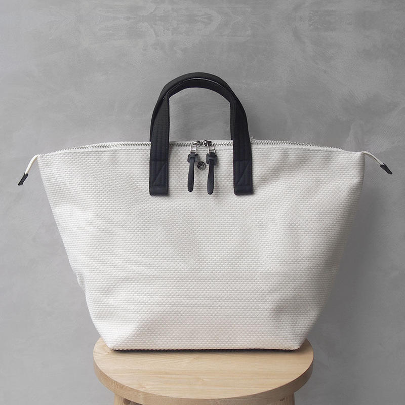 CaBas N°32-Bowler bag medium White/Black