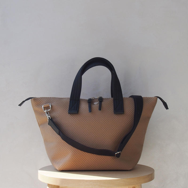 CaBas N°33 Bowler bag small + Shoulder strap Brown/Black