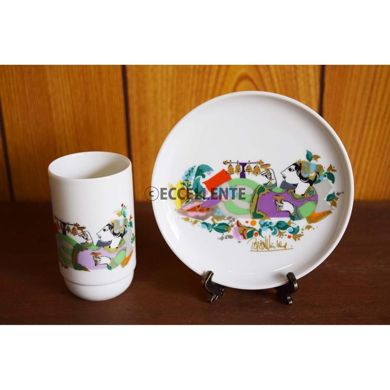 【北欧ヴィンテージ】【ローゼンタール】【ビョルン・ヴィンブラッド】豆皿&ショットカップ