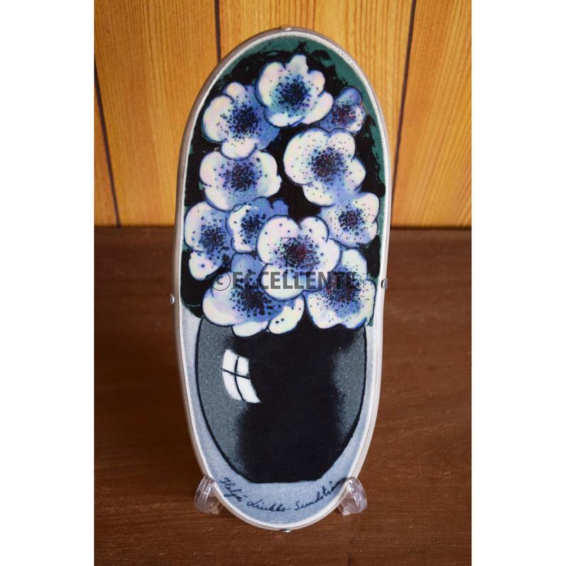 【北欧ヴィンテージ】【アラビア】【ヘルヤ・リウッコ・スンドストロム】陶板 白い花