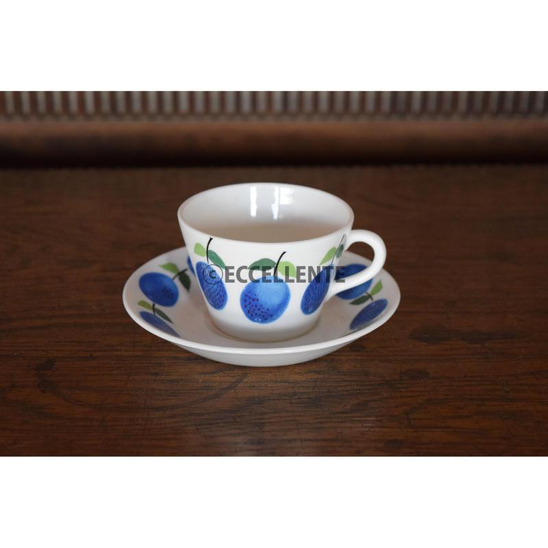 【北欧ヴィンテージ】【グスタフスベリ】【スティグ・リンドベリ】プルーヌス コーヒーカップ&ソーサー