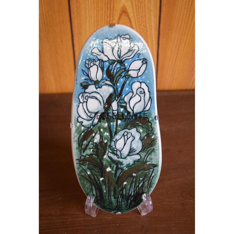 【北欧ヴィンテージ】【アラビア】【ヘルヤ・リウッコ・スンドストロム】陶板 白い薔薇