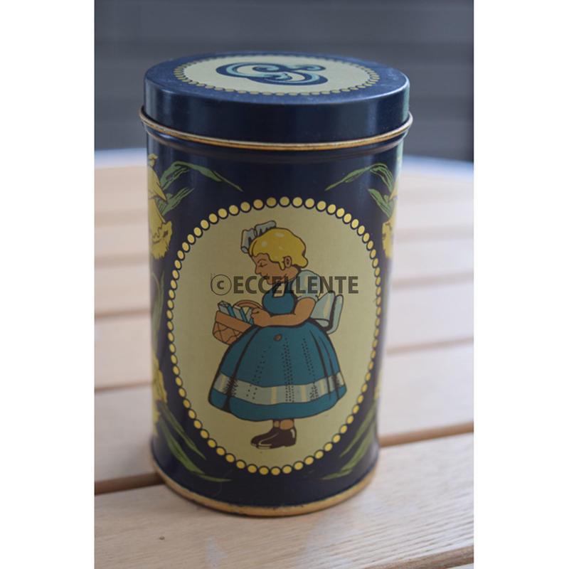 【北欧ヴィンテージ】【イヤマ】イヤマちゃん レトロブリキ缶 小