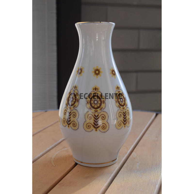 【東欧ヴィンテージ】【リガ陶器工場】フラワープリント フラワーベース