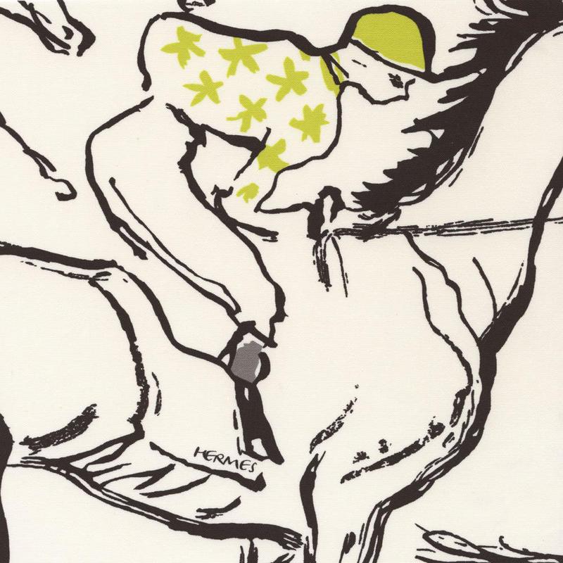 "Hermes エルメス   カーテン、装飾、家具用 生地  ""FINISH """