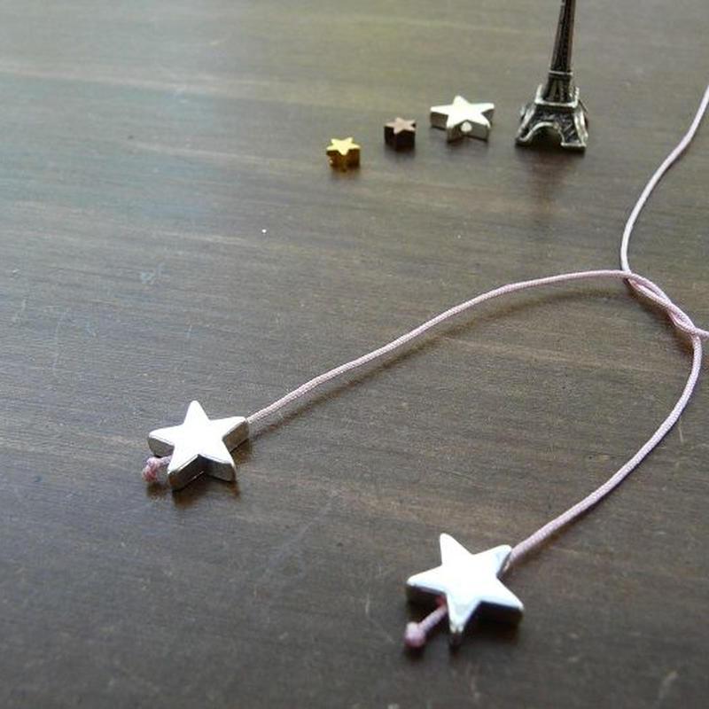 DANILA PARIS Deux étoile ネックレス ピンクカラー 星のチャーム・スターチャーム
