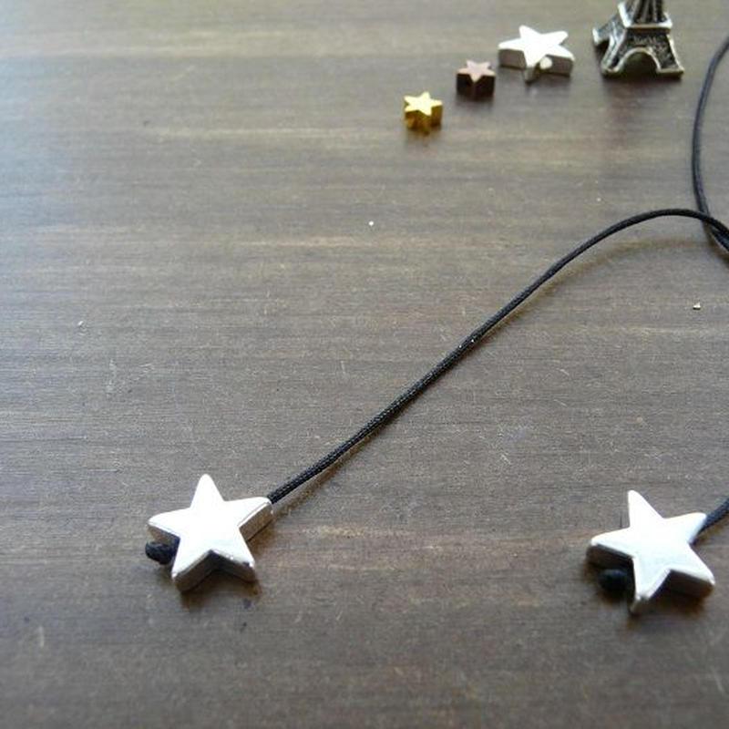 DANILA PARIS  Deux étoile ネックレス ブラックカラー 星のチャーム・スターチャーム
