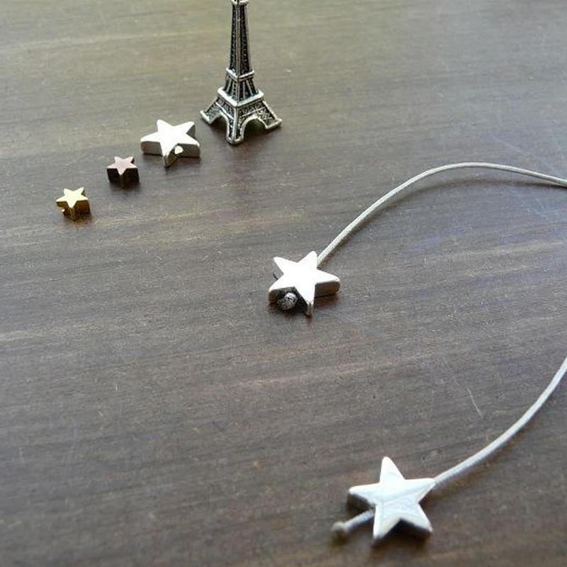 DANILA PARIS Deux étoile ネックレス グレーカラー 星のチャーム・スターチャーム