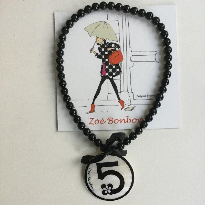 フランス製 Zoé Bonbon  ゾエ ボンボン No.5ネックレス パールホワイト