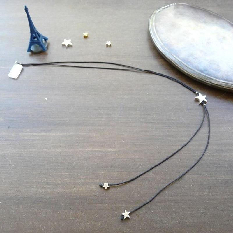 DANILA PARIS étoile クラシック ネックレス ブラックカラー 星のチャーム・スターチャーム