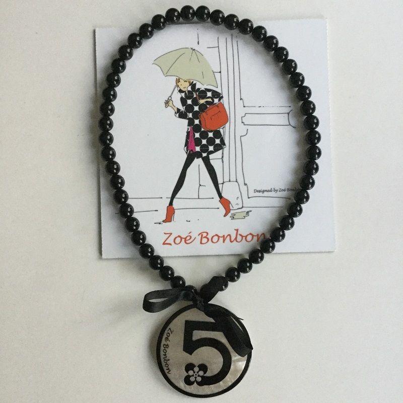 フランス製 Zoé Bonbon  ゾエ ボンボン No.5ネックレス パールピンク系