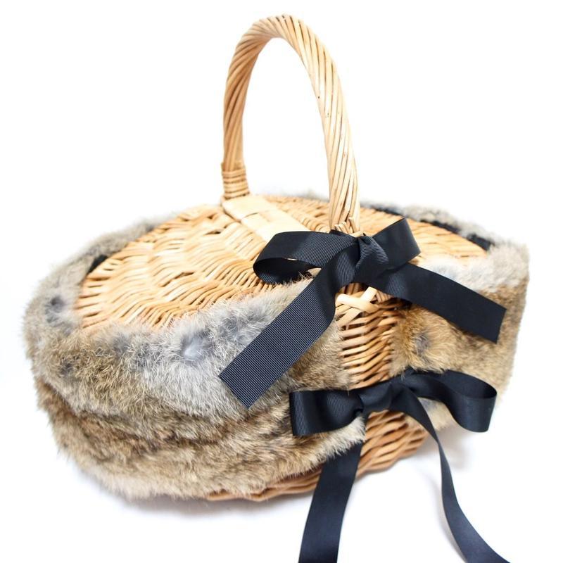 Rabbit fur バッグアクセサリー