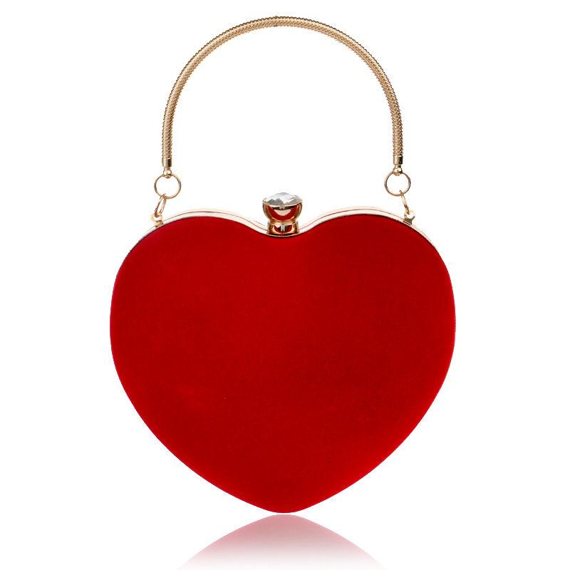 velvet heart bag