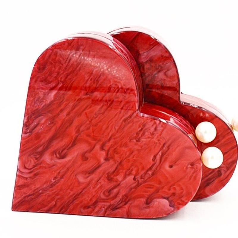 pearl heart bag