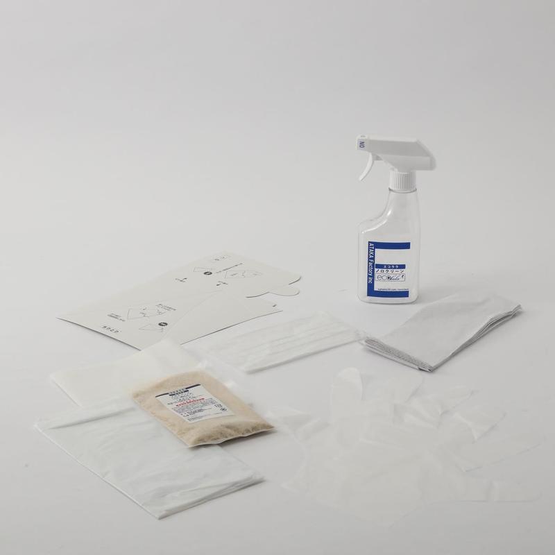ノロウイルス感染を防ぐ使い切り嘔吐物処理キット「エコララノロクリーン」