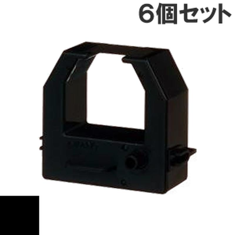 CE319250  ( B ) ブラック インクリボン カセット AMANO (アマノ) 汎用新品 (6個セットで、1個あたり1800円です。)