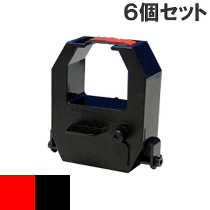 CE315250  ( B ) ブラック&レッド インクリボン カセット AMANO (アマノ) 汎用新品 (6個セットで、1個あたり1800円です。)