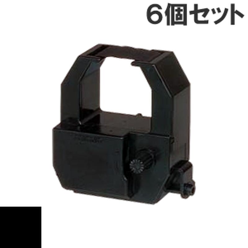 CE316350  ( B ) ブラック インクリボン カセット AMANO (アマノ) 汎用新品 (6個セットで、1個あたり2500円です。)