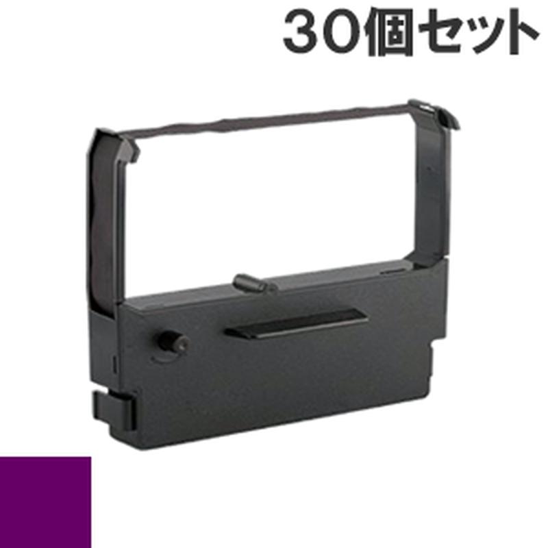 BRE101S / BRJ121S ( P ) パープル インクリボン カセット BROTHER (ブラザー) 汎用新品 (30個セットで、1個あたり800円です。)