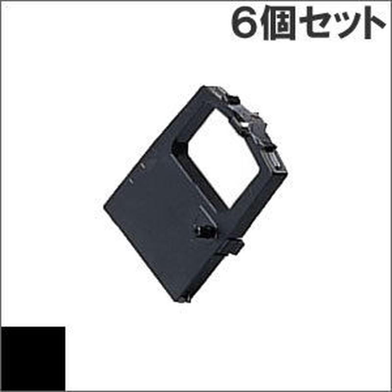 ML182 / SZ-11360 ( B ) ブラック インクリボン カセット OKI(沖データ) 汎用新品 (6個セットで、1個あたり1250円です。)