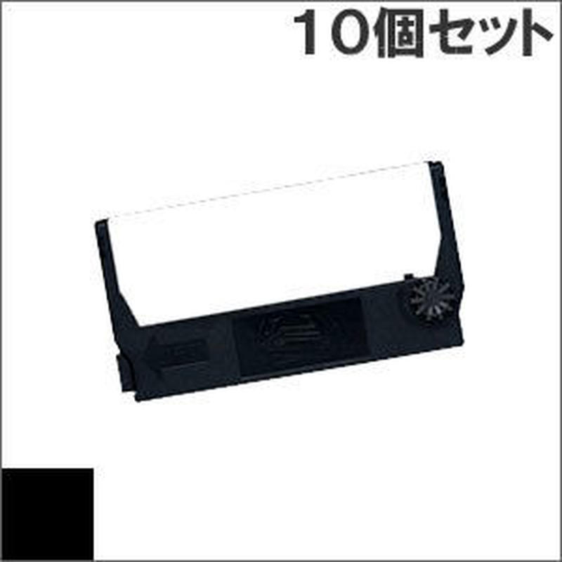 ERC-23 ( B ) ブラック インクリボン カセット EPSON(エプソン) 汎用新品 (10個セットで、1個あたり744円です。)