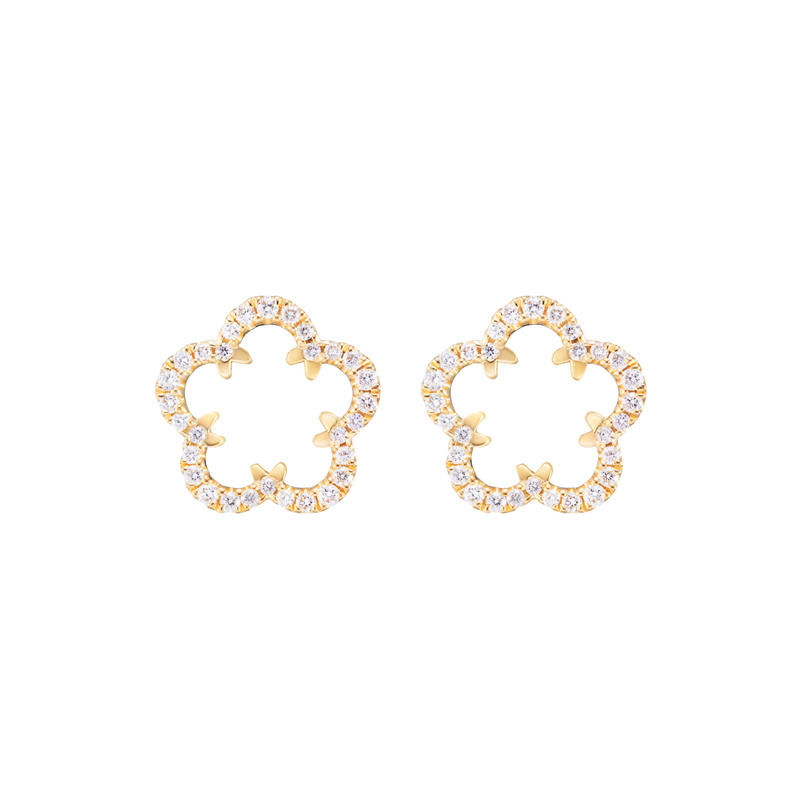 【New】Kikyo Crest mini pierced earrings K18YG