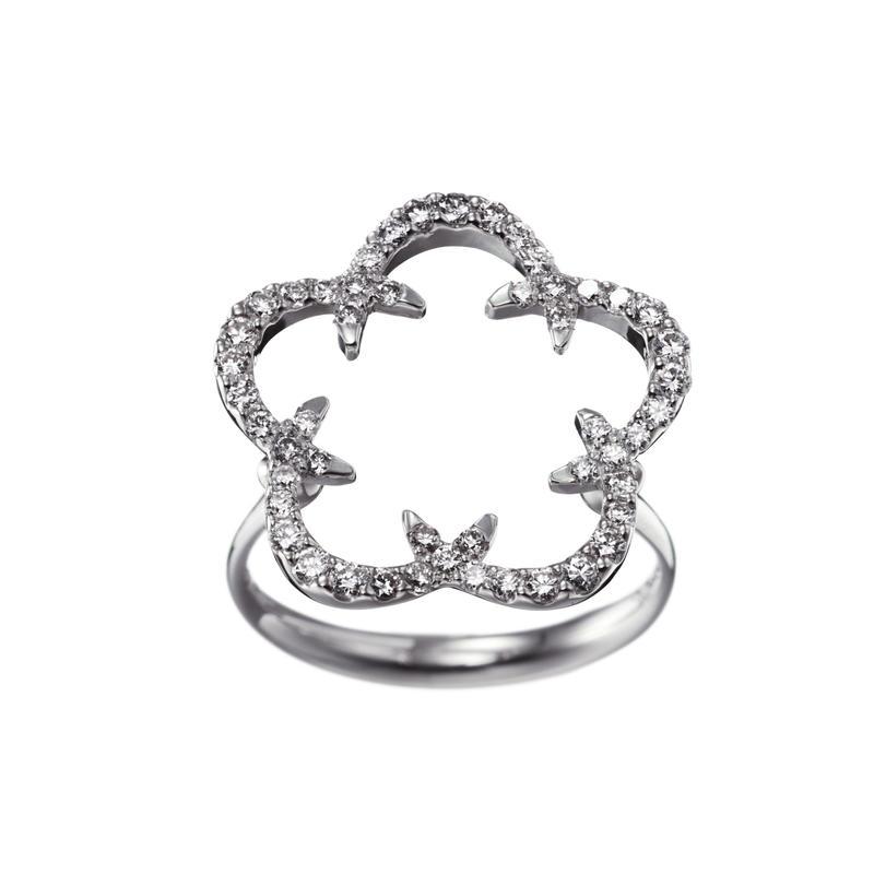Kikyo Crest ring K18WG
