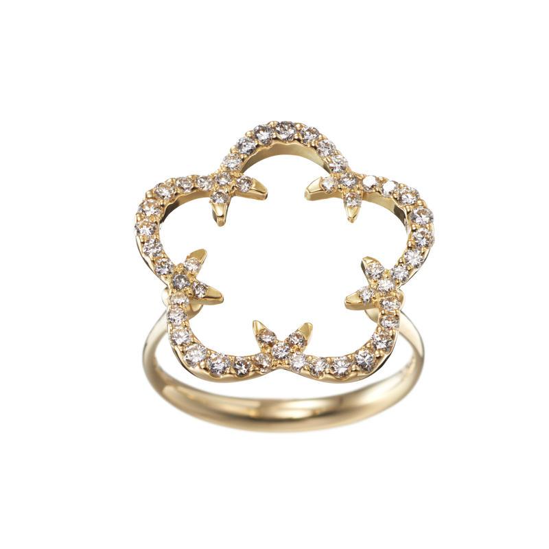 Kikyo Crest ring K18YG