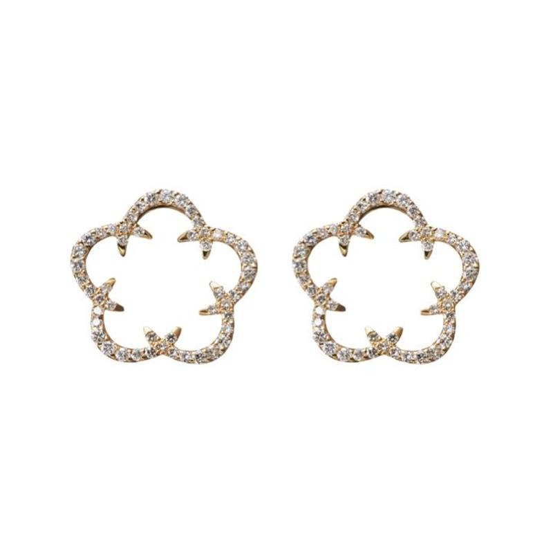Kikyo Crest pierced earrings K18YG