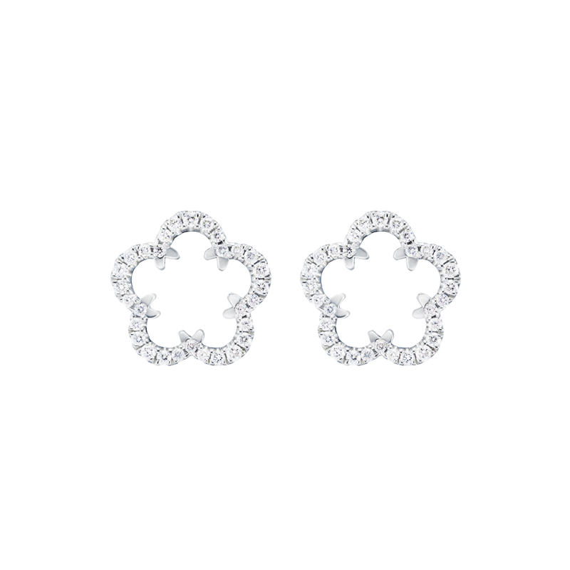 【New】Kikyo Crest mini pierced earring Pt900