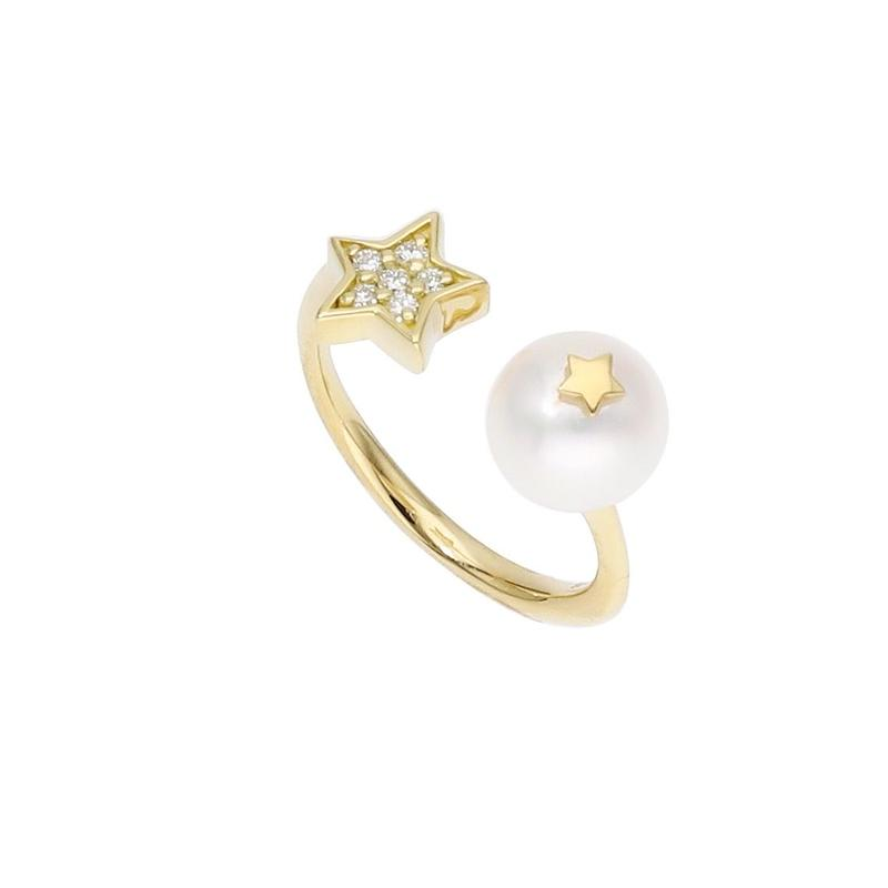 【New】Star Pearl Ring