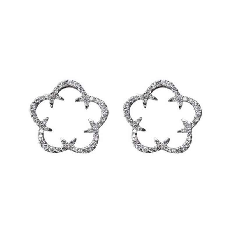 Kikyo Crest pierced earrings K18WG
