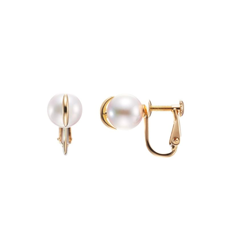 Akoya pearl earrings K18YG