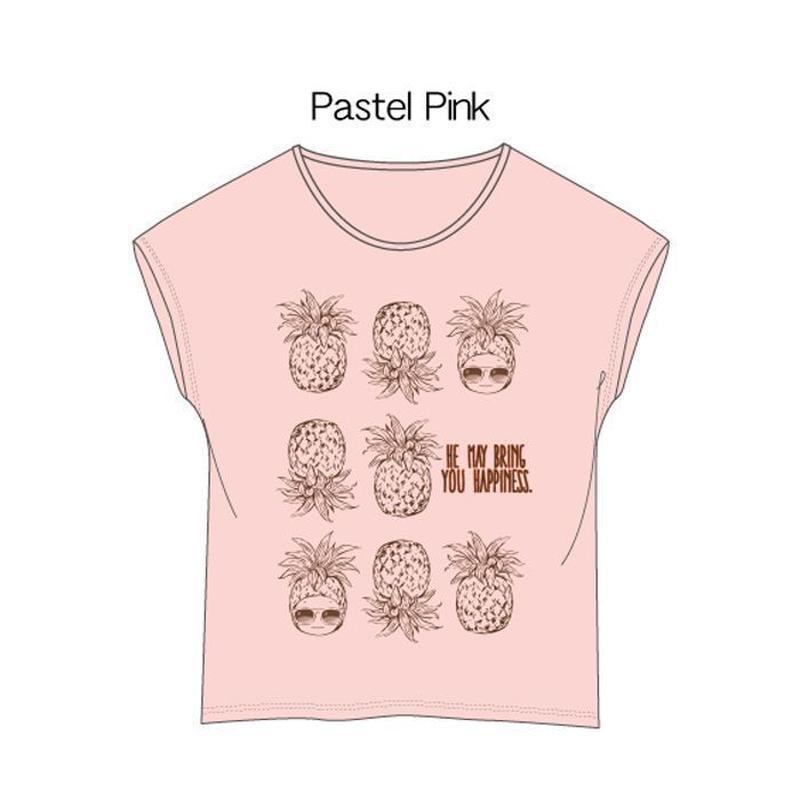 ドルマンカットソー ピンク / Cap-Sleeve T-Shirt Pink