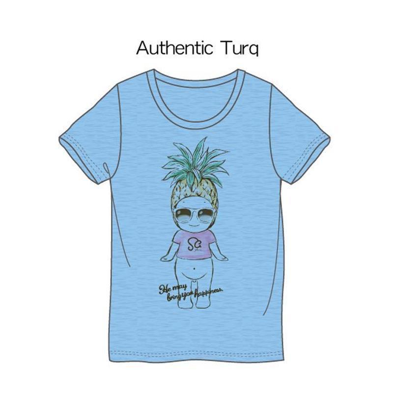 パイナップルTシャツ ブルー / Pineapple T-Shirt Blue