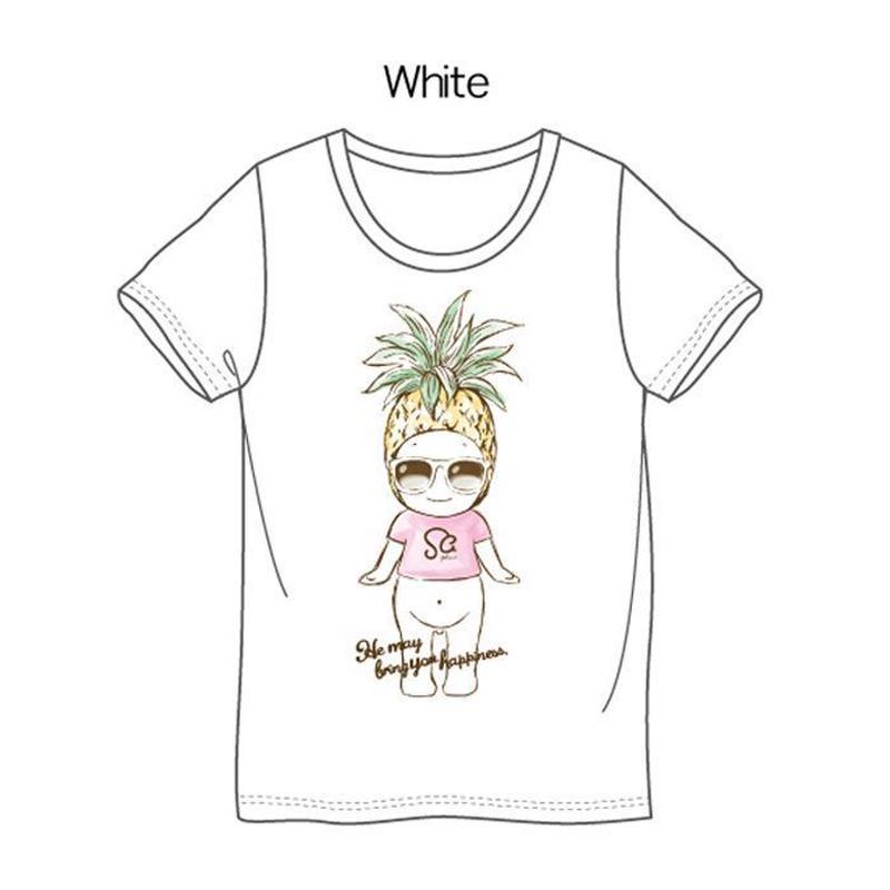 パイナップルTシャツ ホワイト / Pineapple T-Shirt White