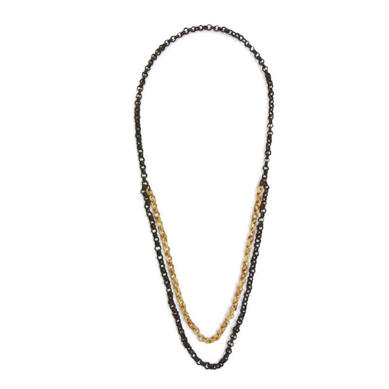 【2連】 ABNUT MIX 3way necklace