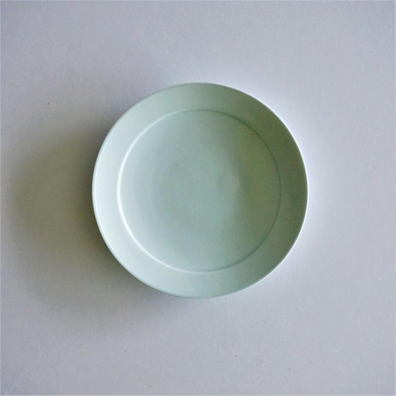 リム小皿  ミントブルー