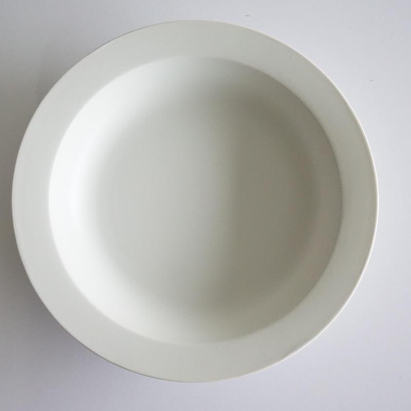 20㎝リム皿  ホワイト
