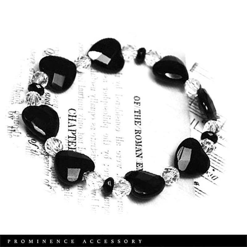 【天然石 | オニキス・天然水晶・シンプル・リボンブレスレット】守護・事故除け・魔除け・心身浄化・パワーストーン