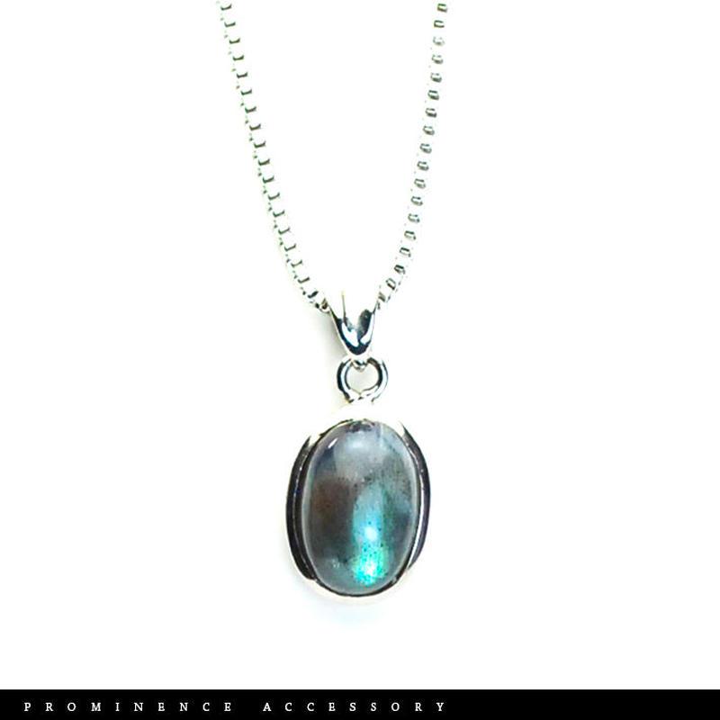 【天然石 | ラブラドライト・シンプルペンダント-02】守護・創造力・引き寄せ・深い癒し・パワーストーン