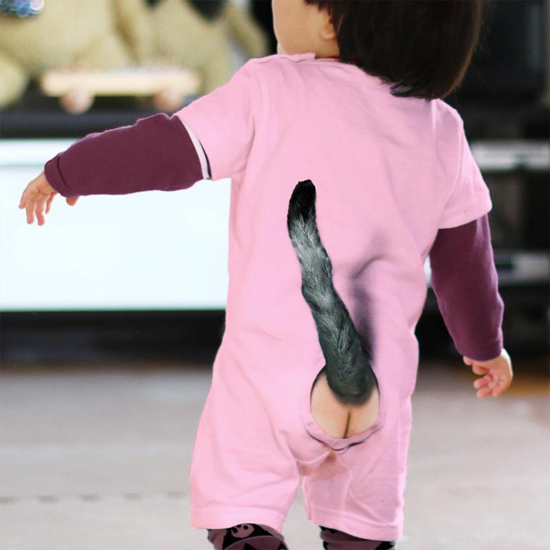 ミミックロンパース・ネコ/ ピンク