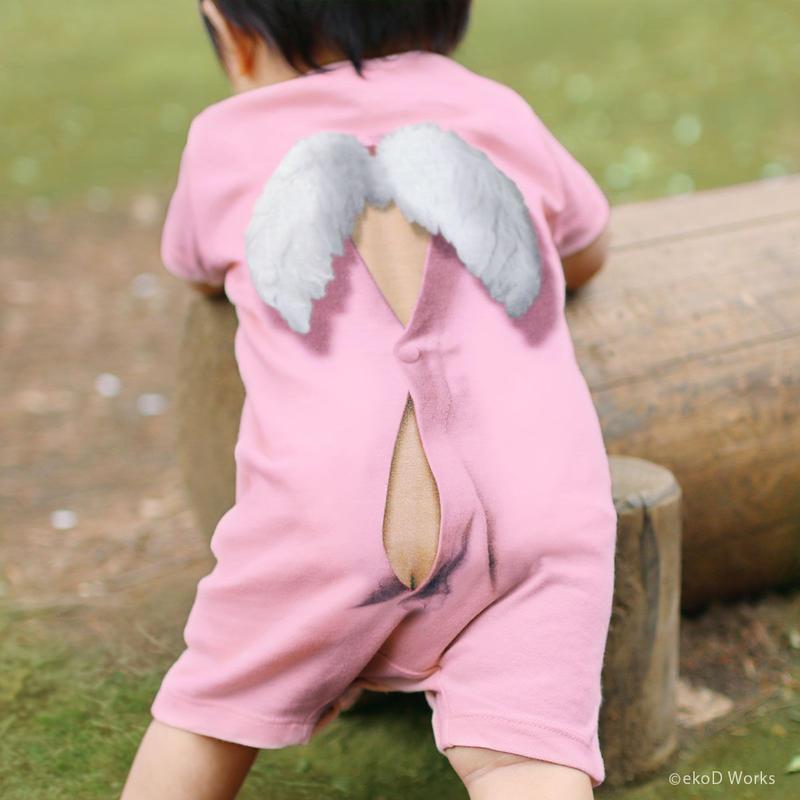 ミミックロンパース・エンゼル/ ピンク