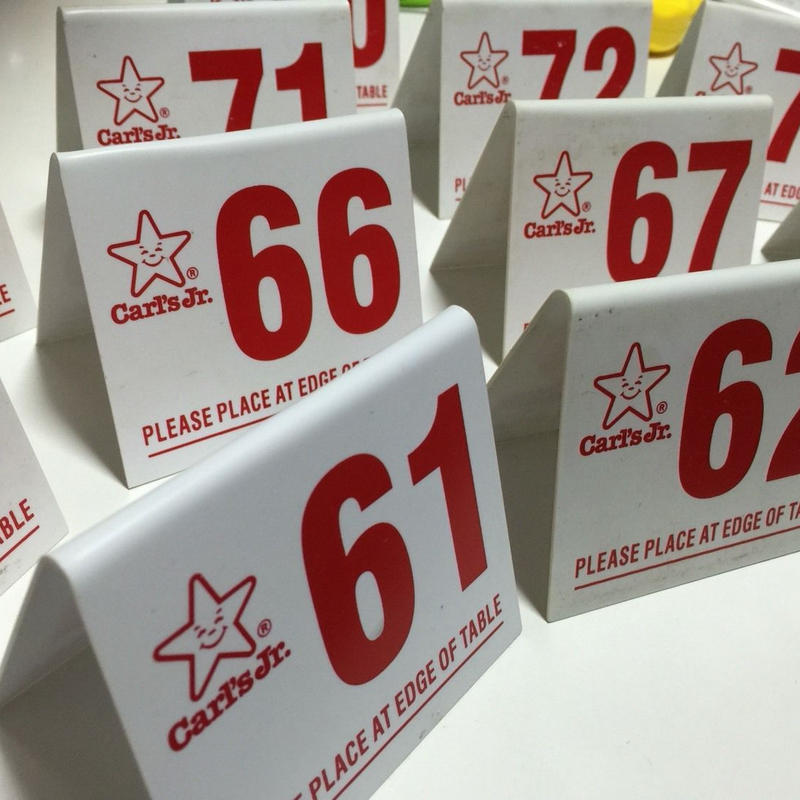 【入荷済み】Carl's Jr Number Plate